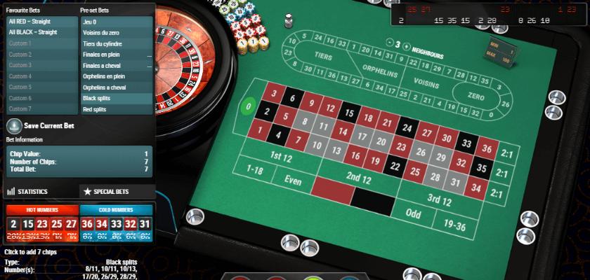 European Roulette Pro - special bet